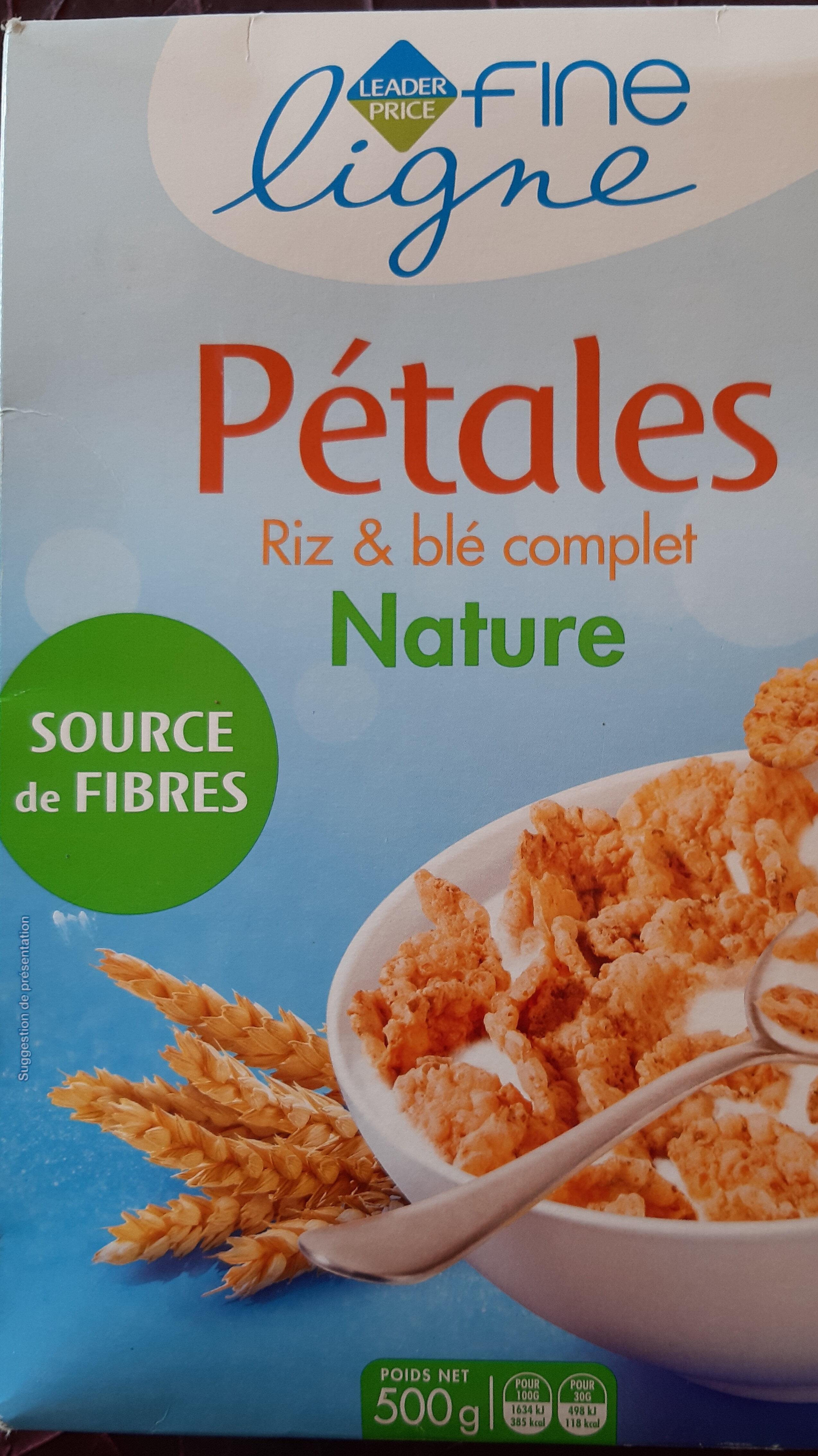 Pétales Riz & blé complet Nature - Product - fr