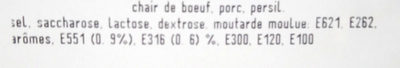 Chair de Bœuf et Porc - Ingrédients