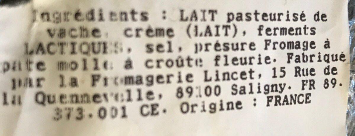 Délice de Bourgogne - Ingredients