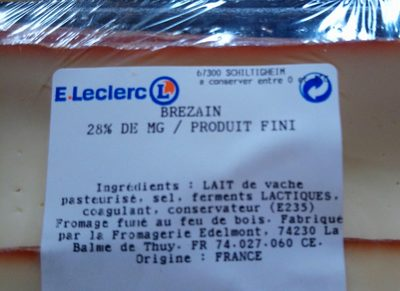 Fromage Brezain - Ingrédients - fr