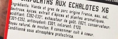 Chipolatas aux Échalotes - Ingrédients