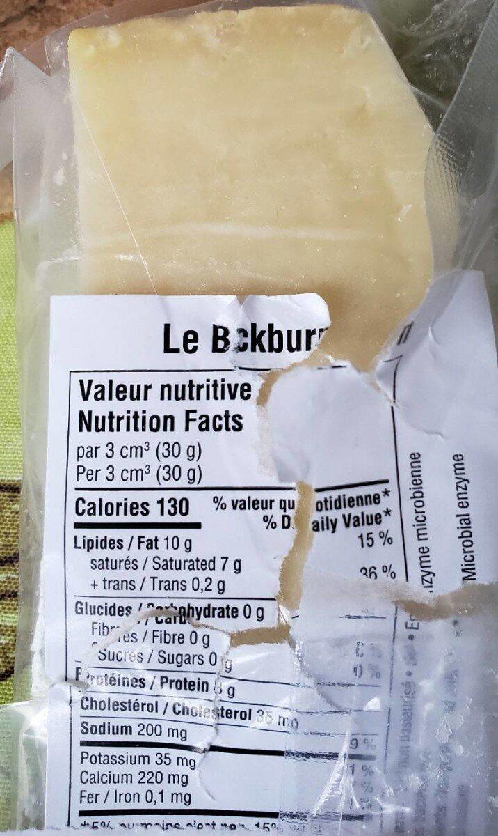 Le Blackburn - Nutrition facts - fr