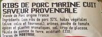 Ribs à la provençale - Ingrédients - fr