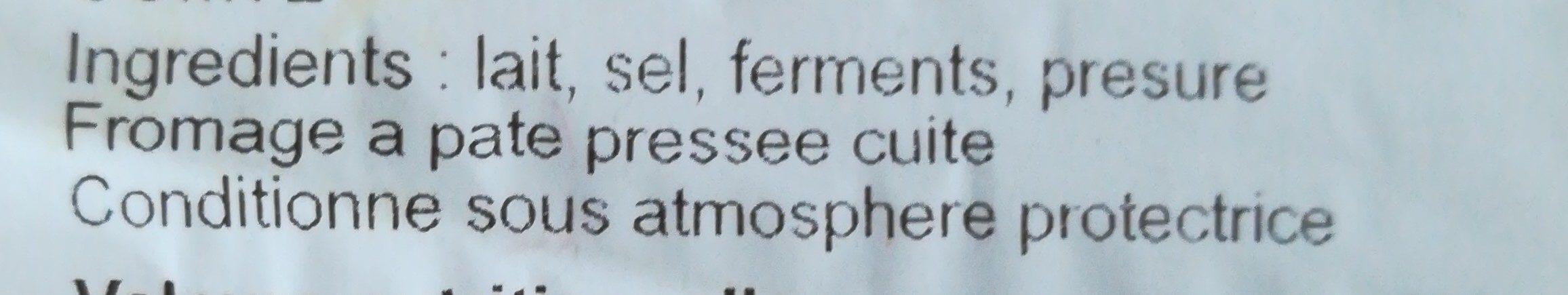Comté - Ingredients - fr