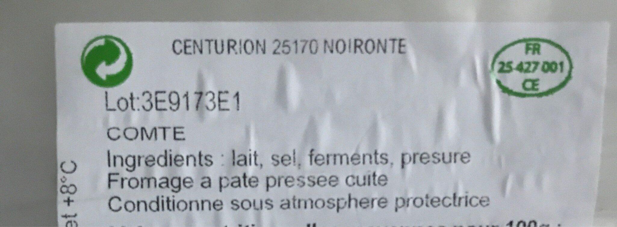 Comte - Ingredienti - fr