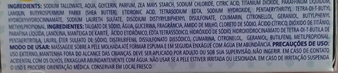 sabonete pompom hidratante - Ingredientes - en