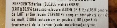 4 croissants 4 chocolatines - Ingrédients - fr