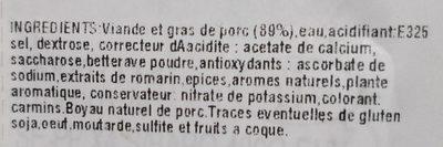 Saucisses de Toulouse pur porc - Ingredients - fr