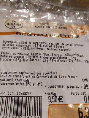 rôti de porc cuit - Product