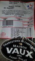 Boudin nature du Périgord - Product - fr