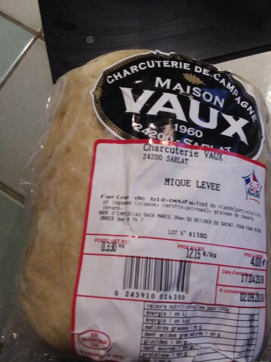 Piqué levee - Ingredients - fr