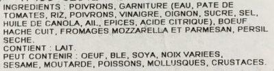 Poivrons doux farcis - Ingredients