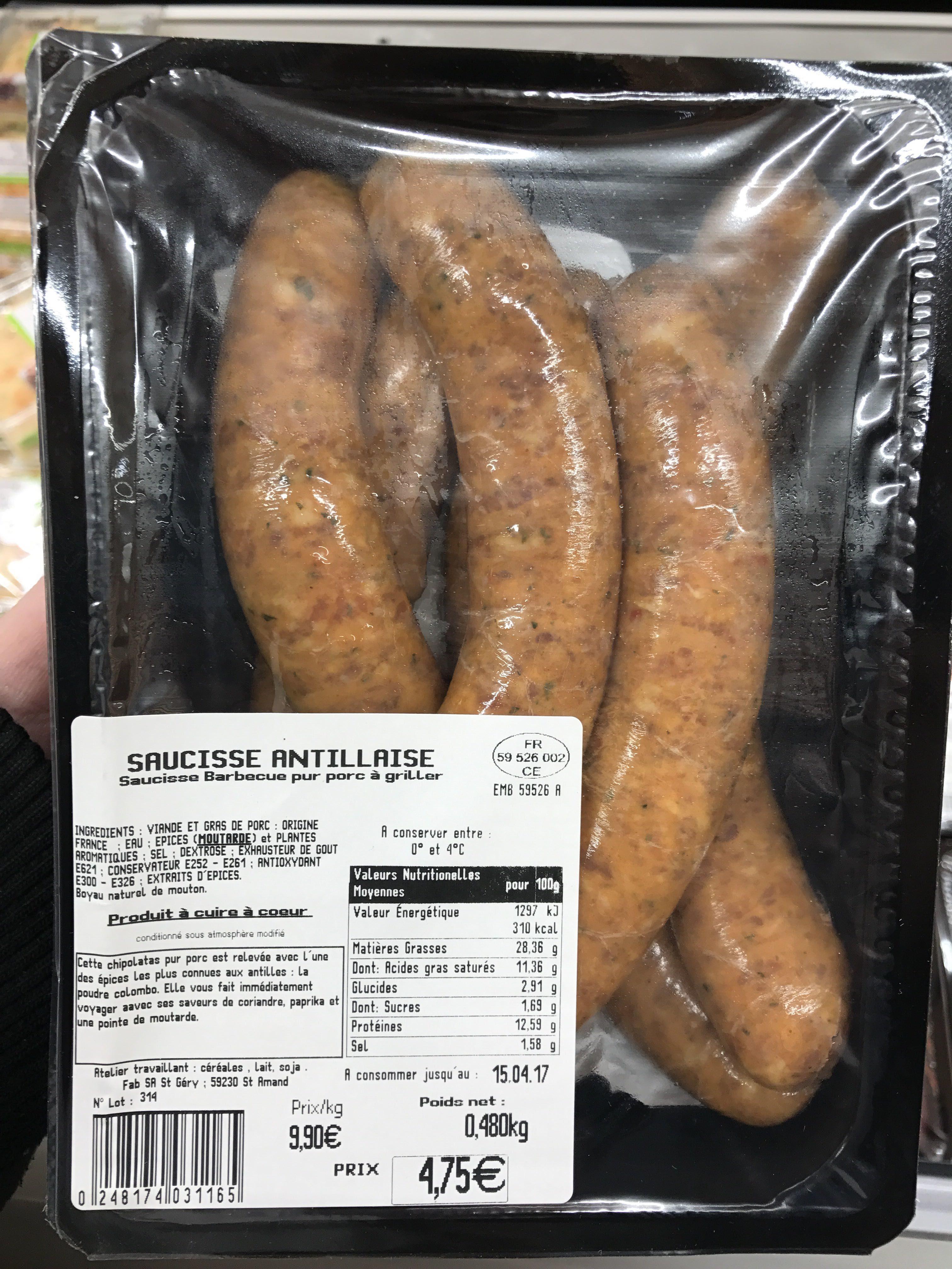Saucisse Antillaise - Product - fr