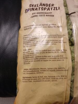 Seeländer Spinatspäzli - Ingredients