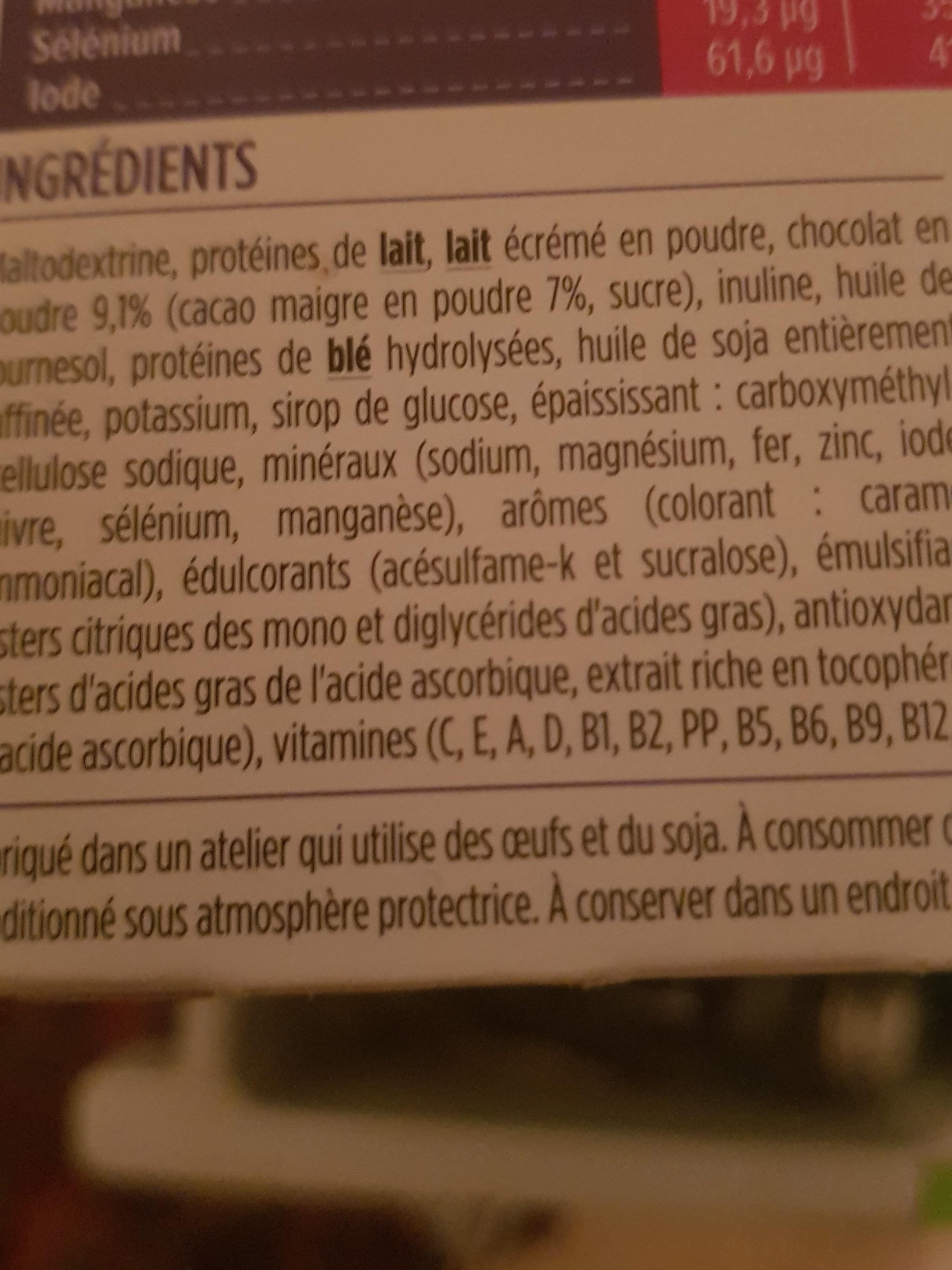 milk-shake au chocolat - Ingrédients