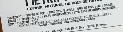 Metka Petite - Ingrediënten - fr