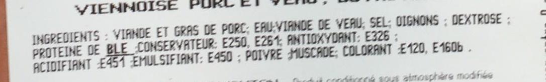 Sosiski - Ingrediënten - fr