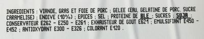 Pâté aux Endives - Ingrediënten