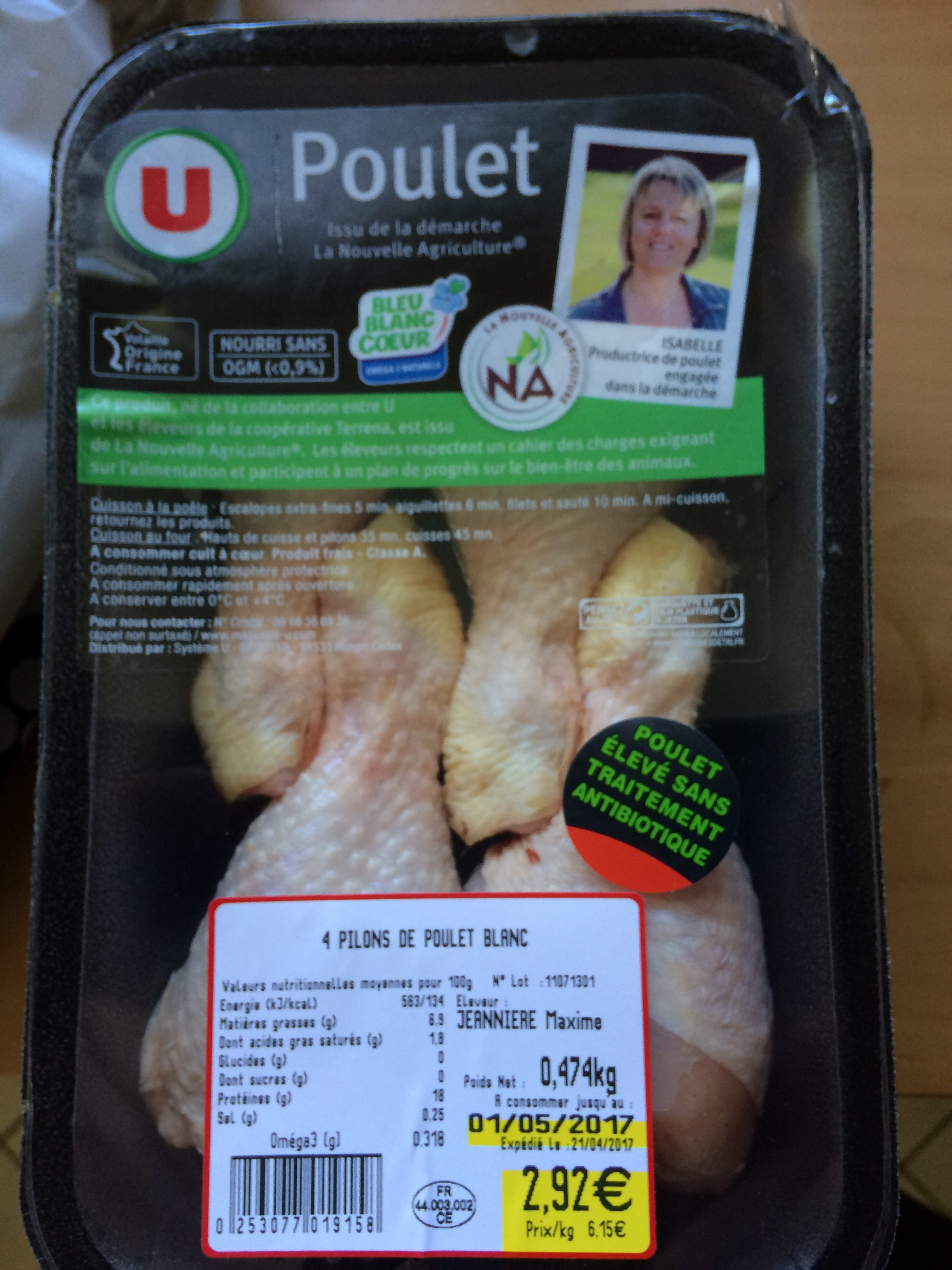 Pilons de poulet - Ingrediënten