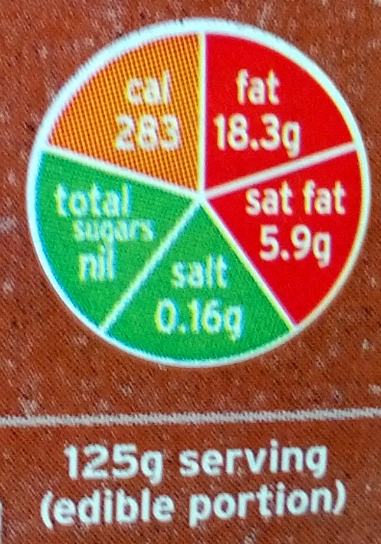 Whole corn-fed freedom food British chicken - Informations nutritionnelles - en