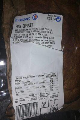 Pain complet leclerc - Produit - fr
