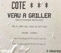 Cote veau a griller - Ingredients