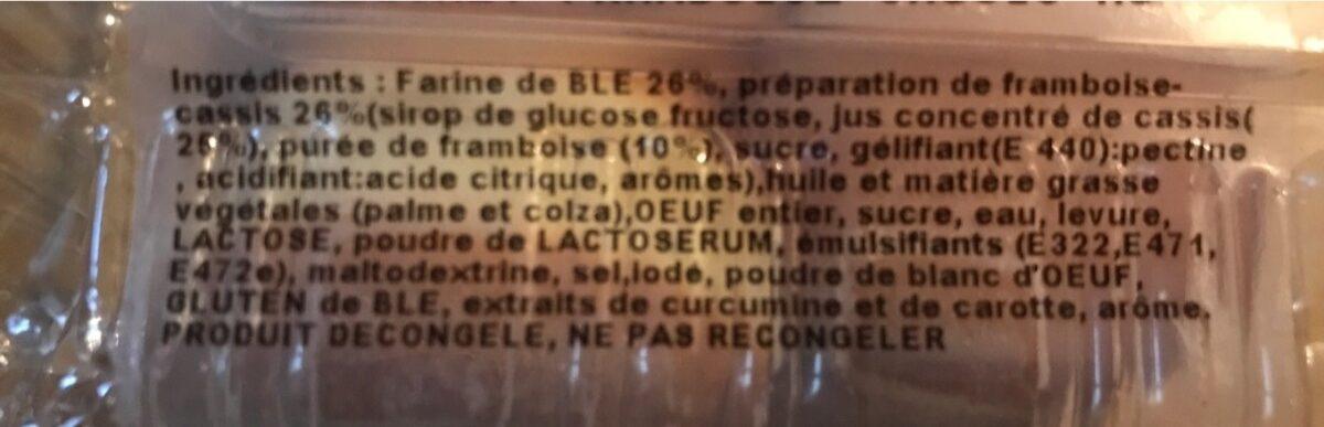 Beignet framboise cassis - Ingrediënten