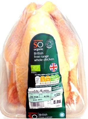 British free range whole chicken - Produit