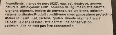 Roti cuit ficelle porc francilin - Ingrediënten