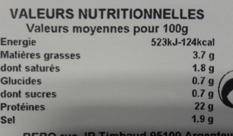 Jambon cuit de Paris Superieur 4 tranches - Ingrediënten - fr