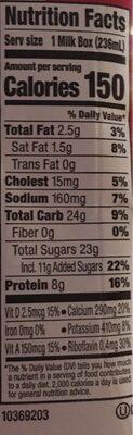 ORGANIC LOWFAT MILK - Informations nutritionnelles - en