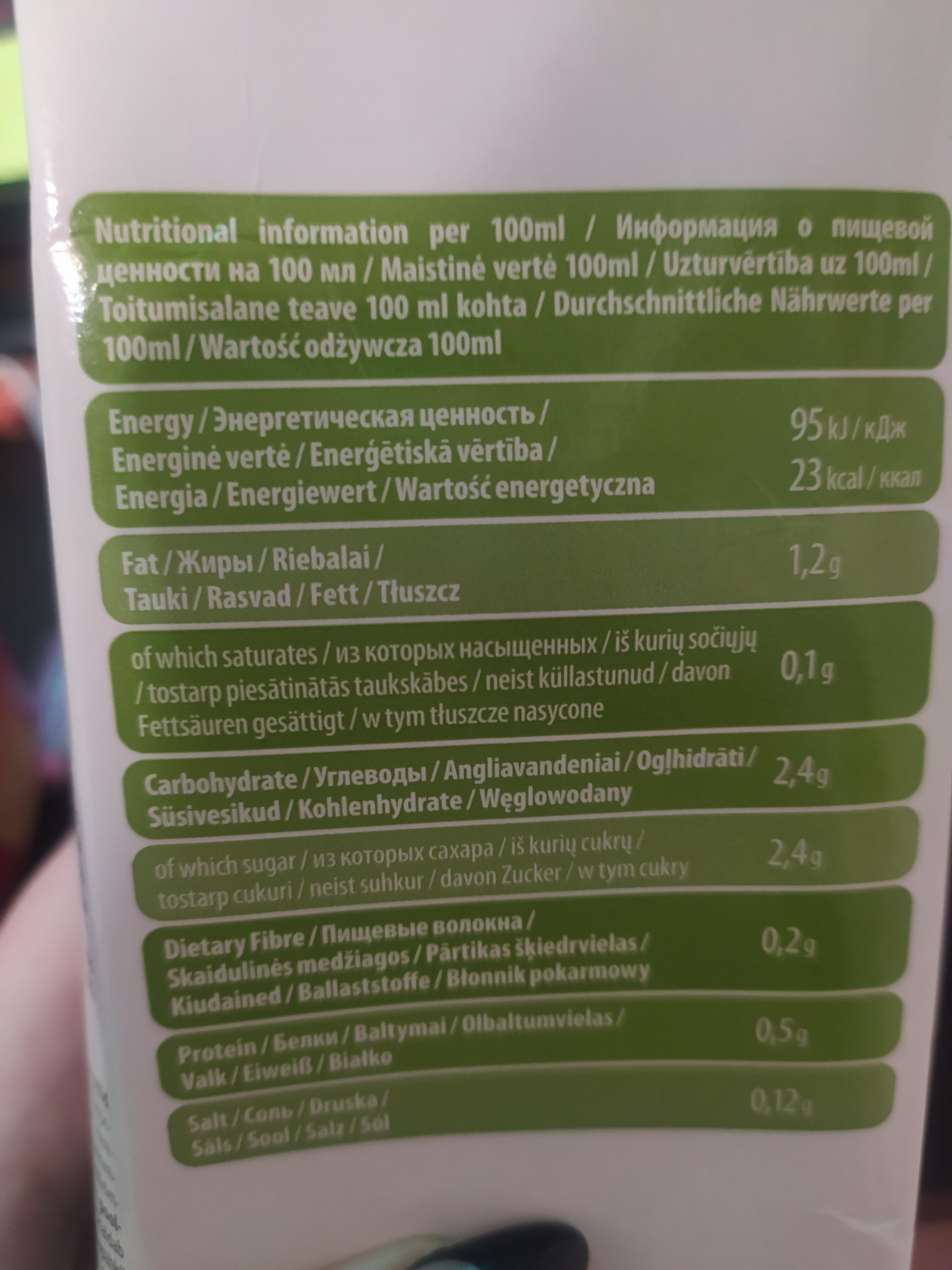 VEGGO Organic Almond Drink - Nutrition facts - en