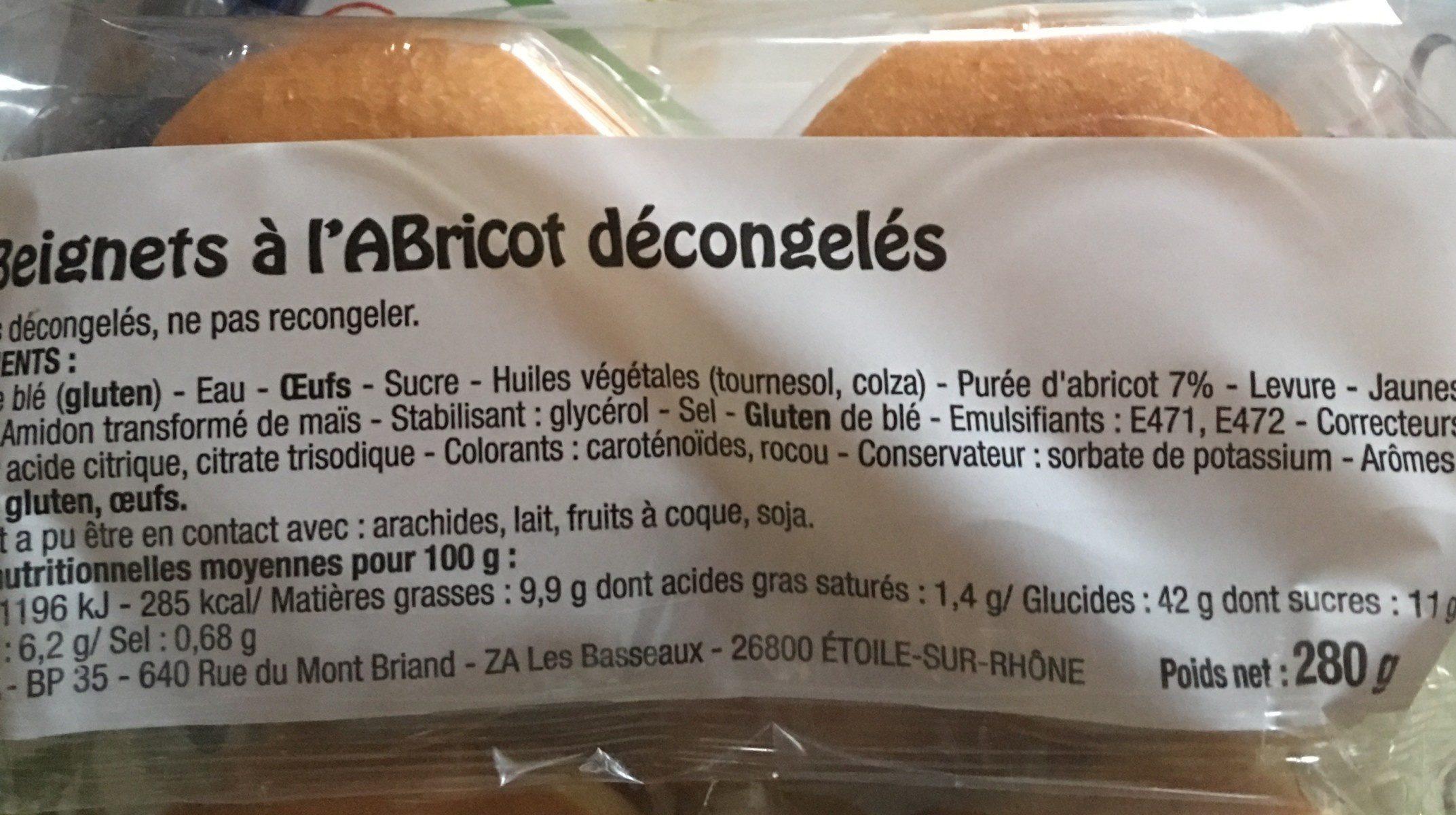 Beignets a l'abricot - Ingredients - fr