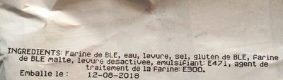 Baguette label rouge - Ingredienti - fr