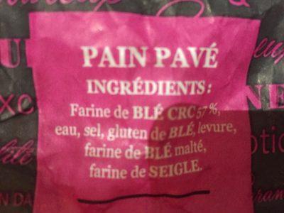 Pain pave campaniere - Ingrédients - fr
