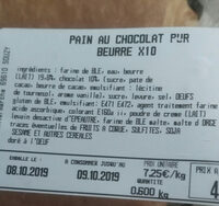 pains aux chocolats - Ingrediënten - fr