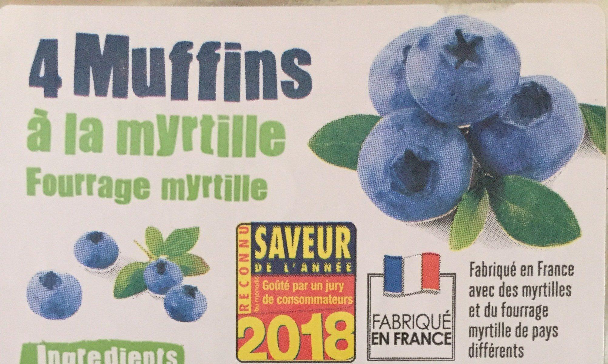 Muffins à la myrtille - Produit