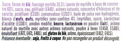 Muffins à la myrtille - Ingrédients