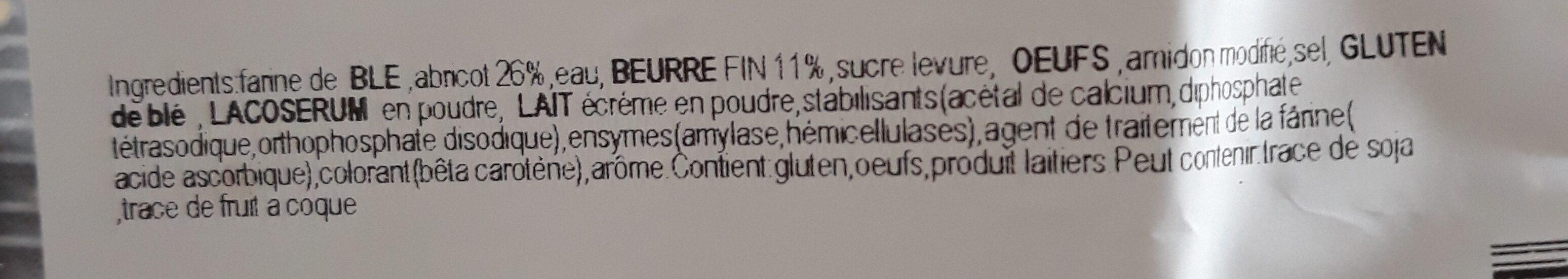 Abricotines - Ingrediënten - fr