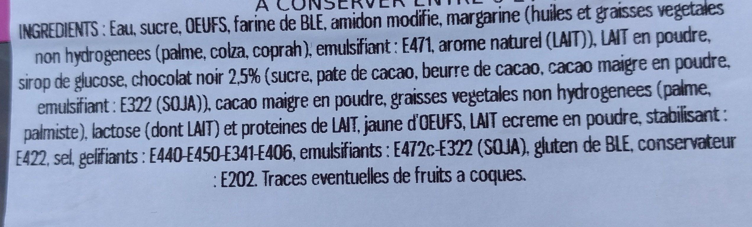 Éclair chocolat - Ingrédients - fr
