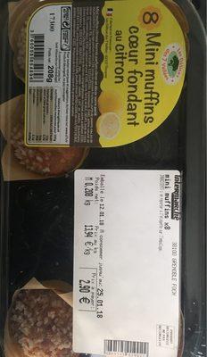Mini muffin coeur fondant au citron - Produit