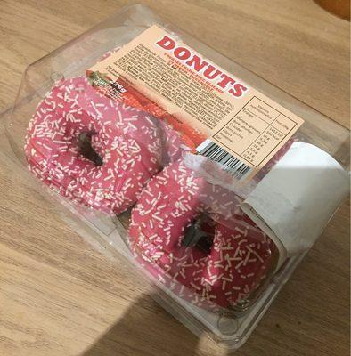 Donuts fourrés fraise avec glaçage et décor - Produit - fr