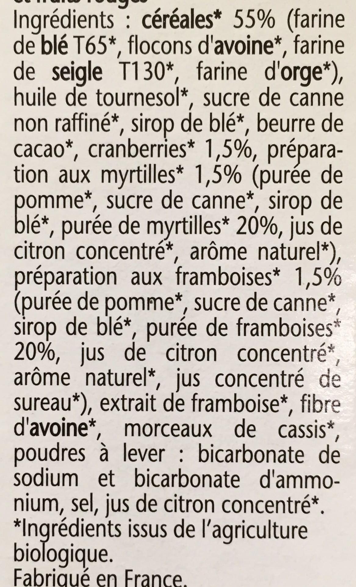 Biscuits p'tit dej bio - Ingrédients - fr