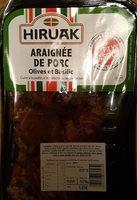 Araignée de porc olives et basilic - Produit - fr