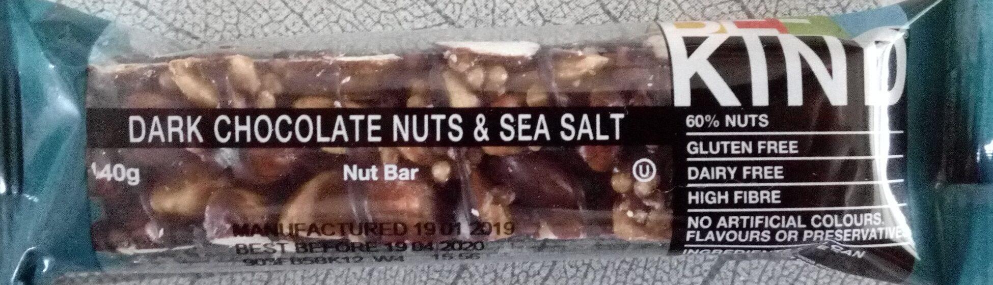 Barre aux noix chocolat noir et sel de mer - Produit - fr