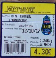 Escalope de Cuisse Moelleuse Poulet Fermier de Loué - Ingrédients