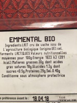 Emmental Bio - Product - fr