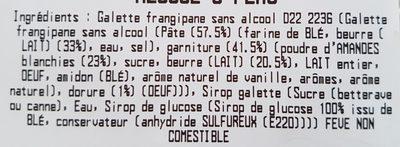 Galette Frangipane - Ingrédients - fr