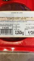 foies de lapin - Product