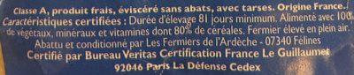 Poulet Fermier cou nu jaune Sud-Est - Ingredients - fr